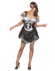 Schickes Halloween Skelett Kostüm für Damen