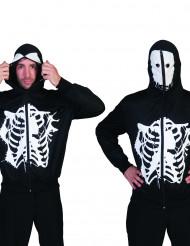 Kapuzenjacke mit Skelett-Aufdruck für Erwachsene