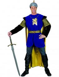 Ritter-Kostüm in Blau und Gold für Männer