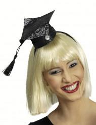 Mini Absolventen Hut mit Pailletten für Damen
