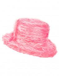 Rosa Plüsch-Hut für Erwachsene