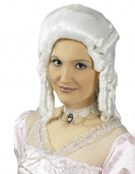 Halskette barock aus weißer Spitze