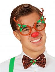 Rentier Brille für Erwachsene bunt