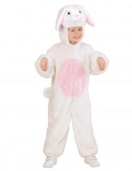 Kaninchen-Kostüm in Weiß und Rosa für Kinder