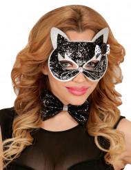 Schwarz-silbernes Katzen-Set für Erwachsene