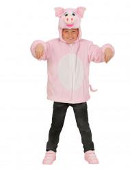 Schwein-Kostüm für Kinder, Jacke mit Kapuze