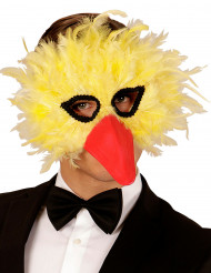 Feder Maske gelber Vogel für Erwachsene