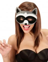 Waschbär Augenmaske mit Fell für Erwachsene