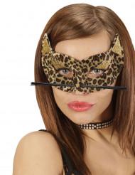 Leoparden Augenmaske für Damen