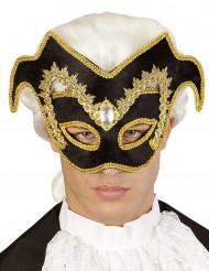 Golden-schwarze Halbmaske - Karneval in Venedig
