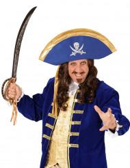 Blauer Piraten-Hut für Erwachsene