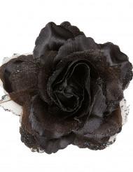 Haarspange schwarze Rose
