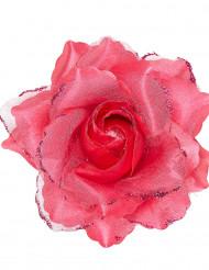 Pinke Rose für die Haare