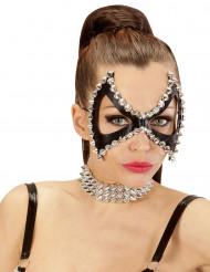 Punker-Maske mit Nieten für Erwachsene