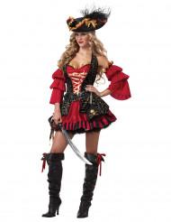Barockes Piraten Kostüm für Damen - Deluxe