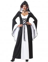 Wunderschönes Burgfräulein-Kleid mit Kapuze