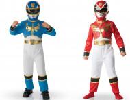 Zwei Power Rangers-Kostüme für Kinder in Geschenkpackung