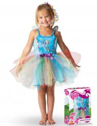 Klassisches Regenbogen-Kostüm für Mädchen in der Geschenkbox