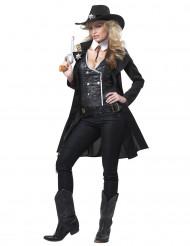 Sheriff Cowgirl Kostüm für Damen schwarz