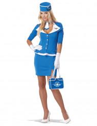 Blaues Stewardess-Kostüm für Damen