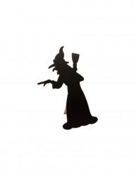 Schiefertafel Hexe für das Halloween Menü, 24,5 cm