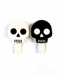 6 Totenkopf-Klammern - Halloween