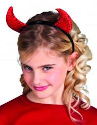 Teufelshörner mit Pailletten für Kinder