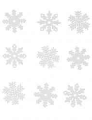 9 selbstklebende Schneeflocken