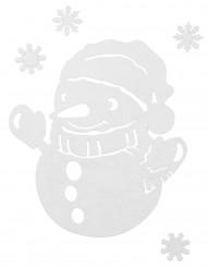 Schneemann und Flocken Dekorationen für Weihnachten