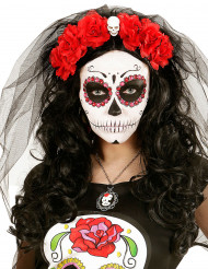 Blumenkranz mit Totenkopf