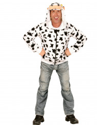 Kapuzenjacke im lustigen Kuh-Design für Erwachsene