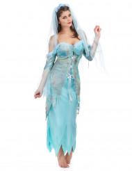 Meerjungfrau-Kostüm in Türkis für Damen