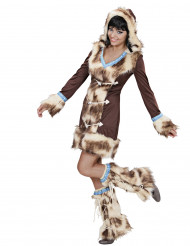 Luxus Eskimo-Schnee-Kostüm für Frauen