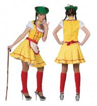 Gelbes Tirolerin-Kostüm für Frauen
