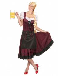 Bayerisches Kleid für Frauen in Bordeauxrot