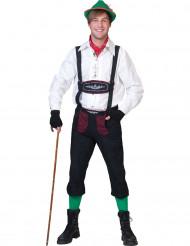 Verkleidung Bayer in Schwarz und Bordeaux für Männer