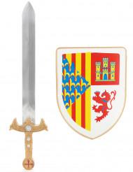 Ritter-Set mit Schwert & Schutzschild für Kinder