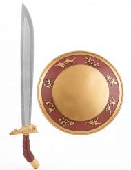 Gladiatoren-Set mit Schwert & Schild für Kinder