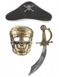 Piratenset für Kinder - Schwert, Hut und Halbmaske