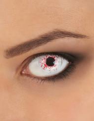 Blutbespritzte Kontaklinsen