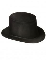 Schwarzer Hut in Melonenform