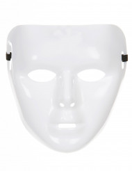 Weiß schimmernde Maske für Erwachsene