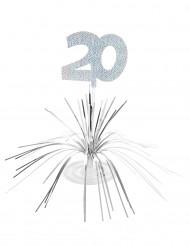Tischaufsteller zum 20. Geburtstag