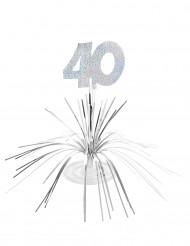 Tischaufsteller - Zahl 40