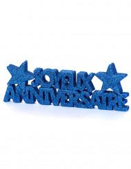 Tischdekoration Geburtstag dunkelblau glitzernd