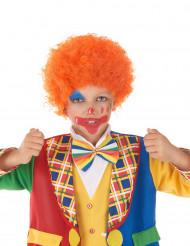 Lockige Kurzhaarperücke in Orange für Kinder