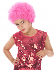 Rosa Disco-Perücke für Kinder