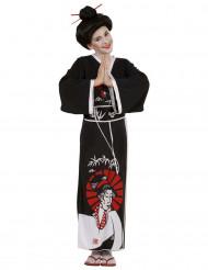 Schwarzes Chinesin-Kostüm für Mädchen