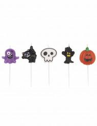 5 Kerzen für Halloween