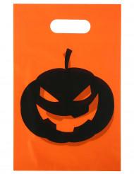 10 Tüten Halloween-Kürbis 16,5 x 23 cm